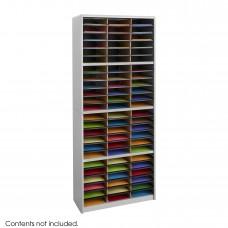 Value Sorter® Literature Organizer, 72 Compartment - Gray