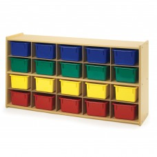 Value Line™ 20-Tray Cubby Storage with Multi-Colored Trays