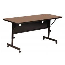 """Deluxe High Pressure Top Flip Top Table - 24x60"""" - Walnut"""