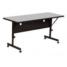"Deluxe High Pressure Top Flip Top Table - 24x60"" - Gray Granite"