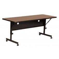 """Deluxe High Pressure Top Flip Top Table - 24x48"""" - Walnut"""