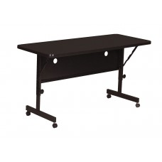 "Deluxe High Pressure Top Flip Top Table - 24x48"" - Black Granite"