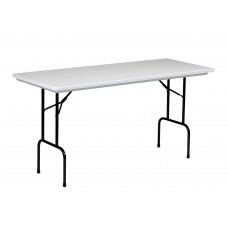 """36"""" Counter Height  Blow-Molded Folding Table - 30x72"""" - Gray Granite"""