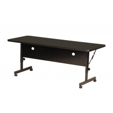 "Deluxe High Pressure Top Flip Top Table - 24x72"" - Black Granite"