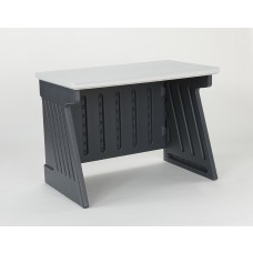 """SnapEase Computer Desk 42"""" - Charcoal/Silver"""