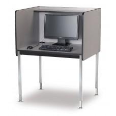 """29"""" Fh Modular Computer Carrel Starter - Wild Cherry"""