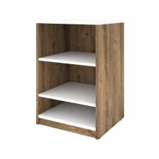 "Cielo by Bestar 19.5"" Base Storage Unit in Rustic Brown and White"