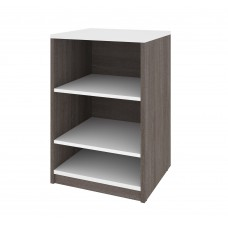 "Cielo by Bestar 19.5"" Base Storage Unit in Bark Gray and White"
