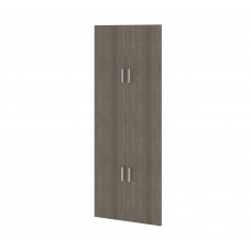 "Cielo by Bestar 4-Door Set for 29.5"" Storage Unit in Bark Gray"