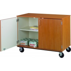 "36"" Tall - Closed Divided Shelf Storage, No Lock"