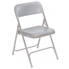 Grey Premium Light-Weight Plastic Folding Chairs Carton of 4