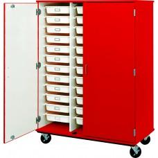 """67"""" Tall - Closed Tray Storage, 36 (3-1/2"""") Trays - With Doors, No Lock"""