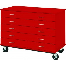 "36"" Tall - Five Drawer Storage - 24"" deep w/ Lock"