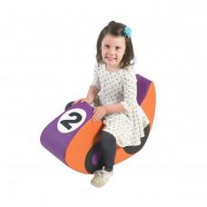 Rocking Racecar - Purple/Orange