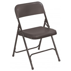Black Premium Light-Weight Plastic Folding Chairs Carton of 4