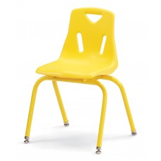 """Berries® Stacking Chair with Powder-Coated Legs - 16"""" Ht - Yellow"""