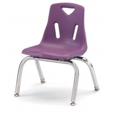 """Berries® Stacking Chairs with Chrome-Plated Legs - 10"""" Ht - Set of 6 - Purple"""
