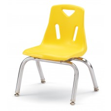 """Berries® Stacking Chairs with Chrome-Plated Legs - 10"""" Ht - Set of 6 - Yellow"""