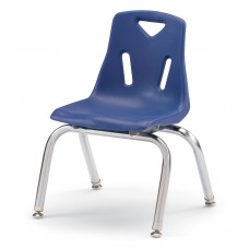 """Berries® Stacking Chair with Chrome-Plated Legs - 12"""" Ht - Blue"""
