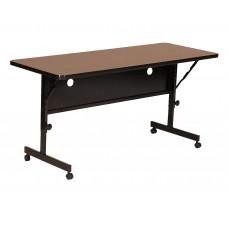 "Deluxe High Pressure Top Flip Top Table - 24x48"" - Medium Oak"