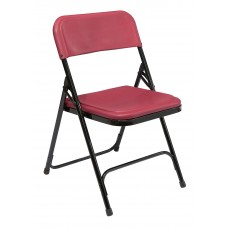 Burgundy Premium Light-Weight Plastic Folding Chairs Carton of 4