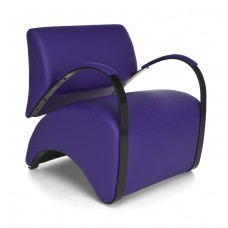 OFM Recoil Series Vinyl and Fabric Lounge Chair, Purple