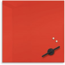 "Mosaic Magnetic Glass Markerboard - Red (16X16"")"