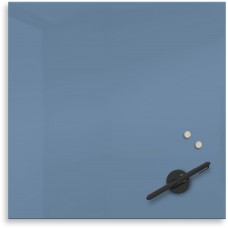 "Mosaic Magnetic Glass Markerboard - Denim Blue (16X16"")"