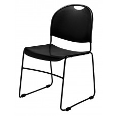 Black Commercialine Stack Chair