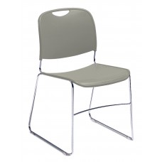 Gunmetal Hi-Tech Ultra-Compact Plastic Seat/Back Stack Chairs