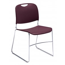 Burgundy Hi-Tech Ultra-Compact Plastic Seat/Back Stack Chairs