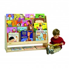 Value Line™ Birch 4-Shelf Book Display with Storage