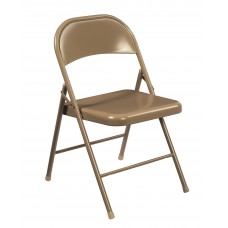 Beige All-Steel Commercialine Folding Chairs Carton of 4