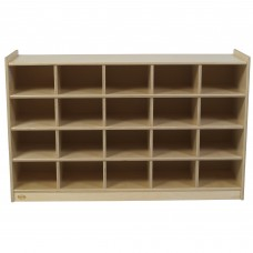 Value Line™ Birch 20-Tray Cubby Storage - Unit Only