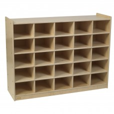 Value Line™ Birch 25-Tray Cubby Storage - Unit Only
