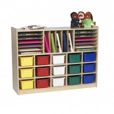 Value Line™ Birch Multi-Section Storage with Multi-Colored Trays