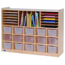 Value Line™ Birch Multi-Section Storage with Clear Trays