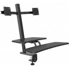 Desk Mounted Sit/Stand Workstation - Dual Monitor