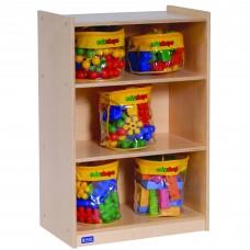 "Value Line™ Birch 36""H 3-Shelf Mobile Storage"