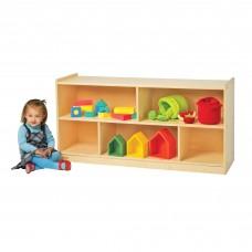 "Value Line™ Birch 24""H Mobile Divided 2-Shelf Storage"