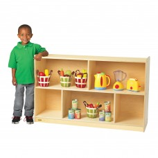 "Value Line™ Birch 30""H Mobile Divided 2-Shelf Storage"