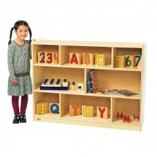 """Value Line™ Birch 36""""H Mobile Divide 3-Shelf Storage"""