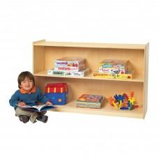 "Value Line™ Birch 48""L Mobile 2-Shelf Storage"