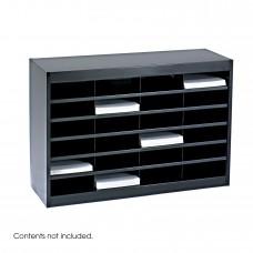 E-Z Stor® Literature Organizer, 24 Letter Size Compartments - Black