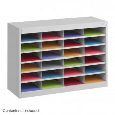 E-Z Stor® Literature Organizer, 24 Letter Size Compartments - Gray