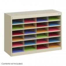 E-Z Stor® Literature Organizer, 24 Letter Size Compartments - Tropic Sand