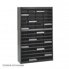 E-Z Stor® Literature Organizer, 60 Letter Size Compartments - Black