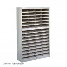 E-Z Stor® Literature Organizer, 60 Letter Size Compartments - Gray