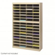 E-Z Stor® Literature Organizer, 60 Letter Size Compartments - Tropic Sand