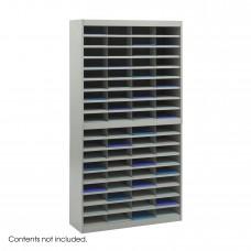 E-Z Stor® Literature Organizer, 72 Letter Size Compartments - Gray